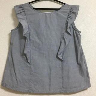 ジーユー(GU)のフリルトップス ブラウス GU(シャツ/ブラウス(半袖/袖なし))