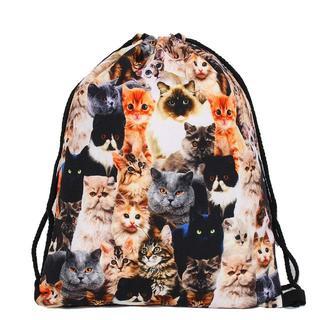 猫 猫かばん ねこ巾着袋 猫バックバッグ 新品未使用品 送料無料♪ 005(猫)