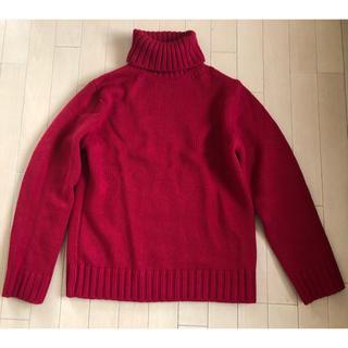 ジーユー(GU)のSNSで話題!完売のGUローゲージタートルネックセーター(ニット/セーター)