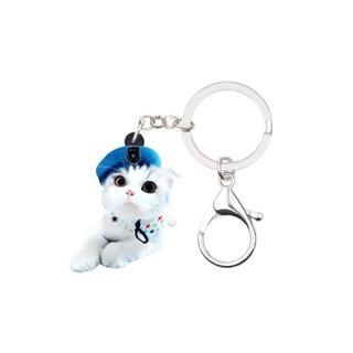 猫 ねこちゃんキーホルダー♪ 可愛い♪ 新品未使用品 送料無料 001(猫)