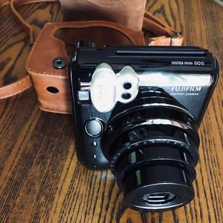 フジフイルム(富士フイルム)のinstax mini 革ケース&専用フィルム付き(フィルムカメラ)