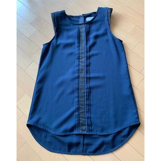ルシェルブルー(LE CIEL BLEU)の【LECIEL BLEU】ネイビージップカットソー 40(カットソー(半袖/袖なし))