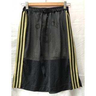 アディダス(adidas)のadidas アディダス メッシュスカート L ブラック ゴールド(ひざ丈スカート)