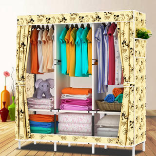 送料無料 洋服ハンガー クロゼット   組み立て 大容量 新品(押し入れ収納/ハンガー)