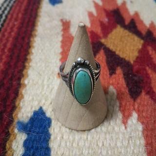 マライカ(MALAIKA)のインディアンジュエリー ナバホ族 ターコイズ シルバーリング指輪sterling(リング(指輪))