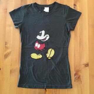 Disney - スパンコール ミッキー Tシャツ