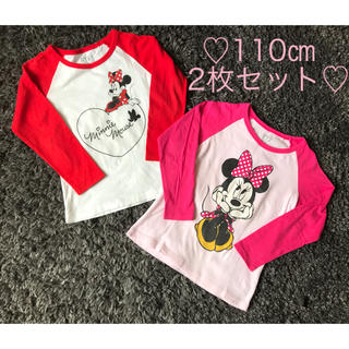 ユニクロ(UNIQLO)の♡ミニーマウス ロンT 110㎝ 2枚セット♡(Tシャツ/カットソー)