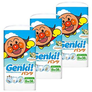 アンパンマン(アンパンマン)の51 ネピア GENKI! パンツ BIG 114枚(38枚×3)(ベビー紙おむつ)