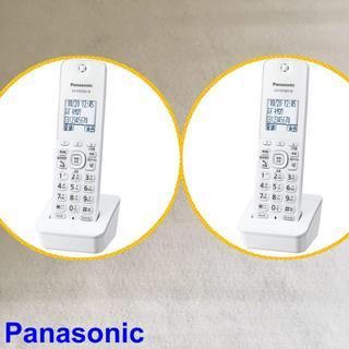 パナソニック(Panasonic)のmon▲2個▲コードレス子機▼Panasonic KX-FKD404-W(その他 )