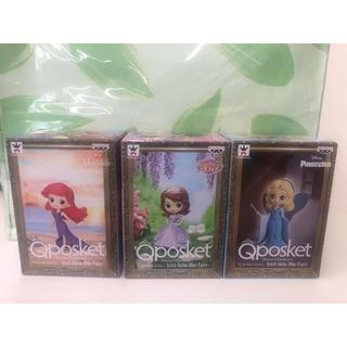 ディズニー(Disney)のディズニー Qposket Petit フィギュア 全3種類セット(フィギュア)