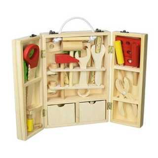 木のおもちゃ 木製ツールボックス 大工さんセット 知育玩具