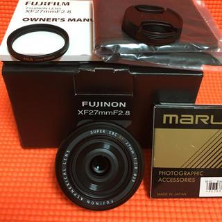 フジフイルム(富士フイルム)の美品 XF27mm F2.8 富士フイルム おまけ有(レンズ(単焦点))