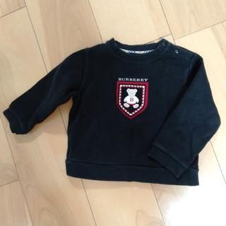 バーバリー(BURBERRY)のバーバリー黒トレーナー90とベア赤Tシャツ(トレーナー)