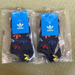 アディダス(adidas)の新品アディダス 靴下 レディース 22-24cm マルチカラー ネイビー グレー(ソックス)