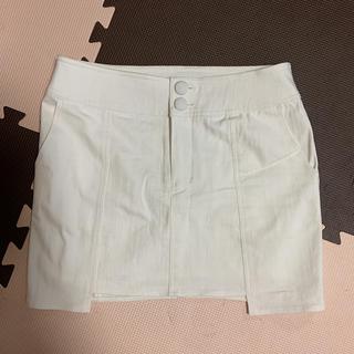 ティティアンドコー(titty&co)のティティアンドコー   ホワイトミニスカート Mサイズ(ミニスカート)