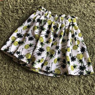 パイナップル柄スカート 140cmインナーパンツ付き