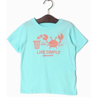 パタゴニア(patagonia)の《新品 未使用》パタゴニア Tシャツ ブルー 4T(Tシャツ/カットソー)