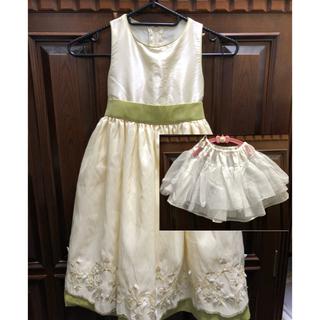 キャサリンコテージ(Catherine Cottage)の子供ドレス 110cm グリーン パニエ付(ドレス/フォーマル)