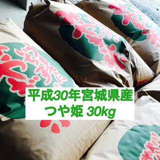 農家直送 平成30年宮城県登米市産つや姫 30キロ