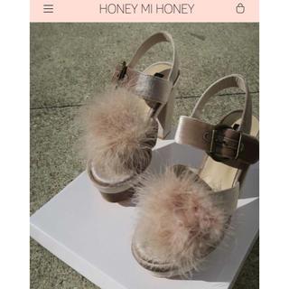 ハニーミーハニー(Honey mi Honey)のfur velour sandal(サンダル)