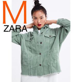 ザラ(ZARA)のZARA 正規品 新品 コーデュロイジャケット M ライトカーキ  人気 完売品(その他)