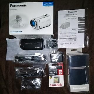 パナソニック(Panasonic)の【新品同様】Panasonic HC-V360MS-K FHDビデオカメラ+α(ビデオカメラ)