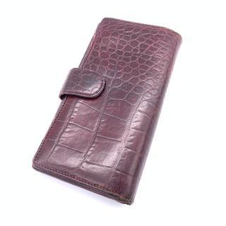 e7236a27dac9 フルラ(Furla)の フルラ FURLA 長財布 クロコダイル バーガンディー 赤 レザー (財布