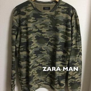 ザラ(ZARA)の美品 ZARA MAN 迷彩トレーナー スウェット(スウェット)