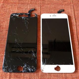 アイフォーン(iPhone)のiPhone6Plus 純正パネル 割れ 2枚セット 【P25】(スマートフォン本体)