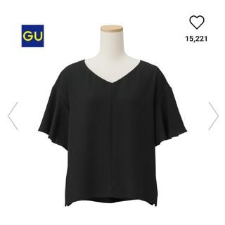 ジーユー(GU)の美品✨25日まで価格✨GUブラックカットソー❤️(カットソー(半袖/袖なし))