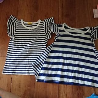 シマムラ(しまむら)の美品Tシャツ 2枚セット 100(Tシャツ/カットソー)