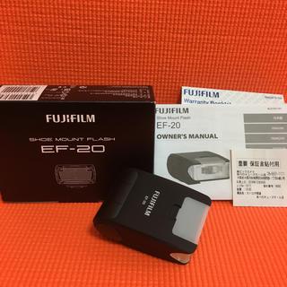 フジフイルム(富士フイルム)の美品 保証有 EF-20 富士フイルム クリップオンフラッシュ(ストロボ/照明)