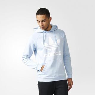 アディダス(adidas)のadidas originals パーカー ライトブルー×ホワイト(パーカー)