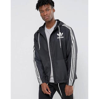 アディダス(adidas)のadidas originals ナイロンジャケット ブラック×ホワイト(ナイロンジャケット)