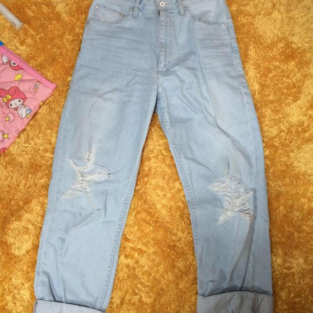 KAWI JAMELE(カウイジャミール)のダメージボーイズデニム  レディースのパンツ(デニム/ジーンズ)の商品写真