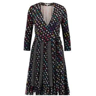 ダイアンフォンファステンバーグ(DIANE von FURSTENBERG)の美品!ダイアンフォンファステンバーグ  ドレス 0(ひざ丈ワンピース)