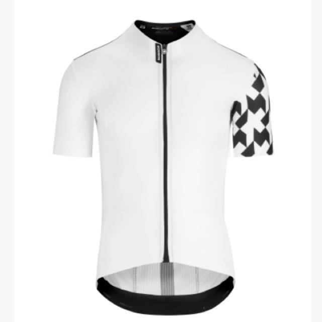 2019モデル アソス エキップRS エアロSS半袖ジャジー Lサイズ 白 スポーツ/アウトドアの自転車(ウエア)の商品写真