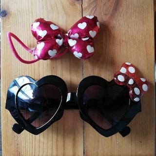 ディズニー(Disney)のミニーマウス サングラス&リボン(サングラス/メガネ)