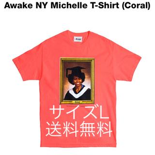 アウェイク(AWAKE)のAwake NY Michelle T-Shirt サイズL コーラルピンク(Tシャツ/カットソー(半袖/袖なし))