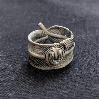 シルバー925 ホースシューフェザーリング 墨加工(リング(指輪))