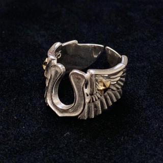 シルバー925 ホースシューウィングリング スター シルバーリング (リング(指輪))