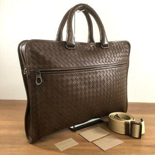 ボッテガヴェネタ(Bottega Veneta)の美品 ボッテガヴェネタ ビジネスバッグ ラムスキン ブラウン 91(ビジネスバッグ)