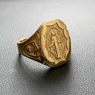 シルバー925×18k マリアメダイカレッジリング ゴールドリング (リング(指輪))