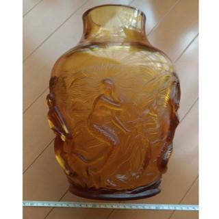 ヴェルリスVerlysフランスブラウンクリスタルガラス人魚マーメイド花瓶(ガラス)