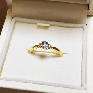 ジュエリーマキ(ジュエリーマキ)のk18 ブルーサファイア ダイヤモンド リング(リング(指輪))