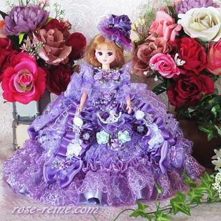 ★新品 ハンドメイド 一点もの 可憐なパープルフリルの お姫様ドレス(その他)