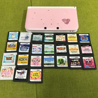 ニンテンドー3DS(ニンテンドー3DS)の3DS llピンク おまけソフト24個付き(携帯用ゲーム本体)