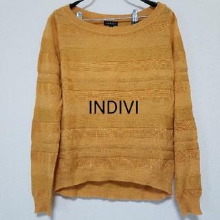 インディヴィ(INDIVI)のINDIVI 薄手ニット(ニット/セーター)