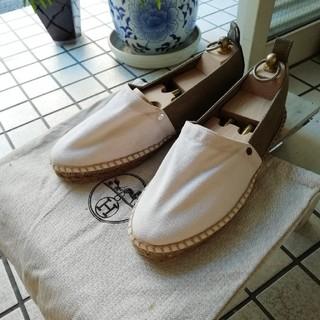 エルメス(Hermes)の美品 保存袋付 エルメス エスパドリーユ 40(ドレス/ビジネス)