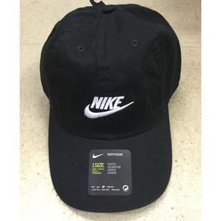 ナイキ(NIKE)のナイキ キッズキャップ 黒生地 新品 未使用 送料込み 子供サイズ ジュニア(帽子)